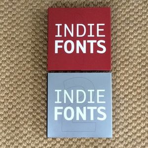 Indie Fonts Books with Bonus Fonts CDs